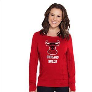 Chicago Bulls Lateral Keyhole Sweatshirt NWT M